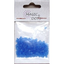 Magic Dots transparentní modrá 200ks