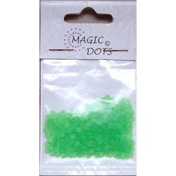 Magic Dots transparentní zelená 200ks