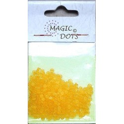 Magic Dots transparentní žlutá 200ks