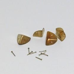 Sada 4 kovových rohů - zlatá barva