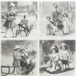 Čtyři motivy vánoční 33x33