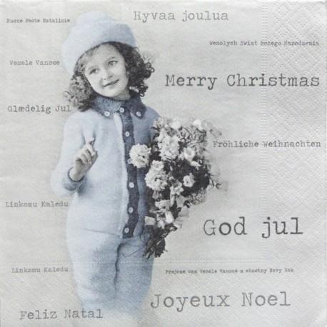 Veselé Vánoce, dívka 33x33