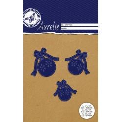 Vyřezávací šablony Aurelie - Vánoční baňky 3ks