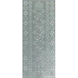 Kontury vločky různé velikosti, stříbrné