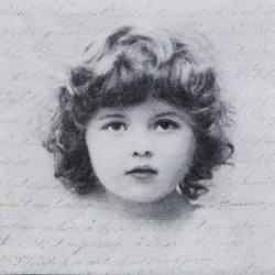 Dětský obličej a písmo 33x33