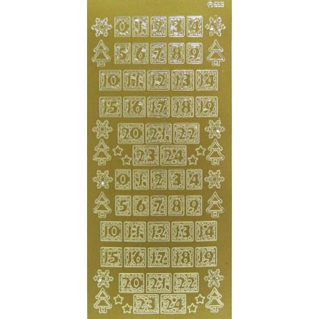 Kontury adventní kalendář zlato