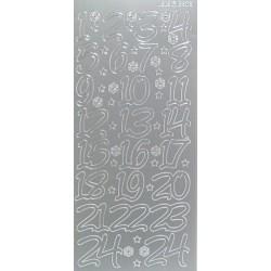Kontury adventní kalendář 2 stříbro