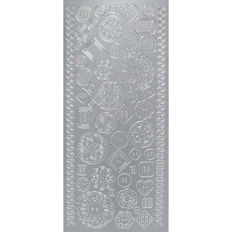 kontury Knoflíčky stříbro