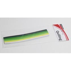 Set papírových proužků Pentart 300ks dozelena