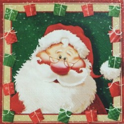 Santa v rámečku s dárečky 33x33