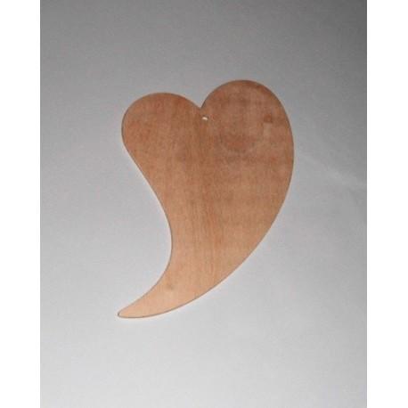 Srdce dřevěné k zavěšení - zahnuté