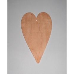 Srdce dřevěné k zavěšení - střední 20x12