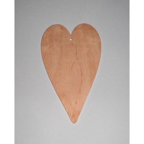 Srdce dřevěné k zavěšení - střední