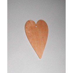 Srdce dřevěné k zavěšení - malé 13x8