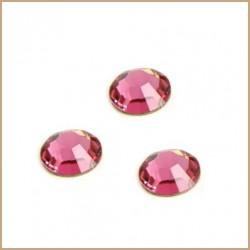 Swarovski štrasové kamínky 3mm - tm.růžová, 10ks