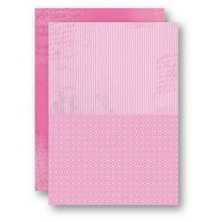 Papír na pozadí A4 - růžový s proužky