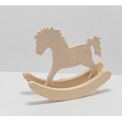 Dřevěný houpací koník 12cm