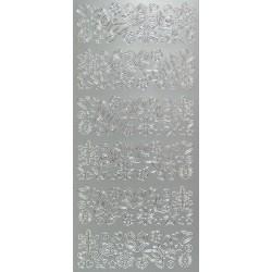 Kontury drobné motivy stříbrné