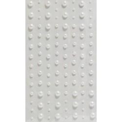 Samolepící perličky bílé 104ks