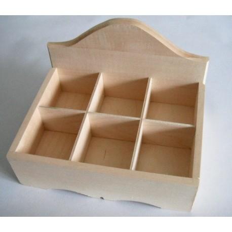 Krabička na čaj otevřená