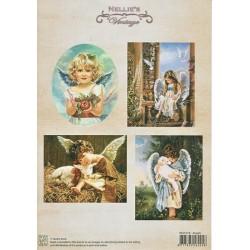 Nellie Vintage A4 - andělé