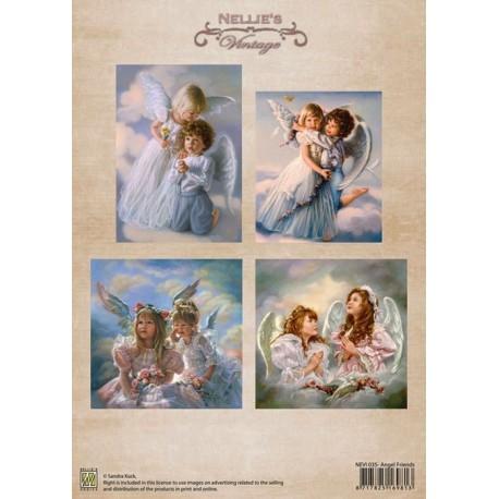 Nellie Vintage A4 - andílci přátelé