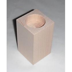 Dřevěný svícen hranatý č.4