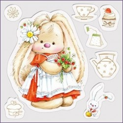 Transp.razítka - Bunny a jahody
