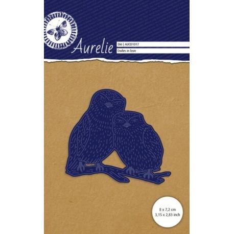 Vyřezávací šablona Aurelie - zamilované sovy