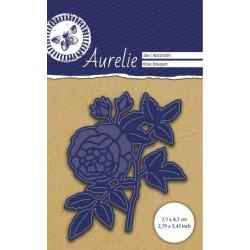 Vyřezávací šablona Aurelie - růžička s poupátky