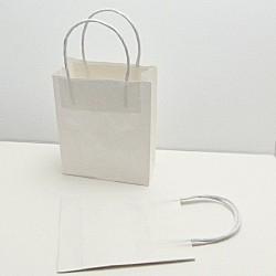 Papírová taštička k dozdobení - bílá