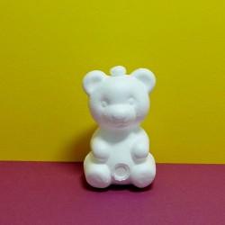 Polystyrénový medvídek - výška 7,5cm