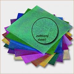 Origami papírky 14x14 opalizující duhové