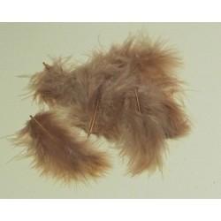 Peříčka Marabu, 10ks v sáčku, sv.hnědé