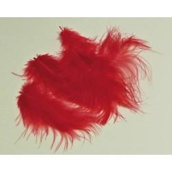 Peříčka Marabu, 10ks v sáčku, červené