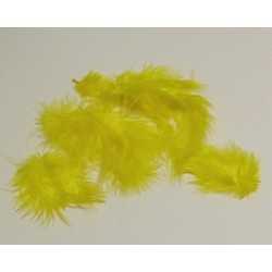 Peříčka Marabu, 10ks v sáčku, žluté