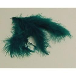 Peříčka Marabu, 10ks v sáčku, tm.zelené