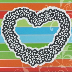 Vyřezávací šablona - srdce z lístečků (MD)