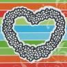 Vyřezávací šablona - srdce z lístečků