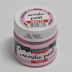 Akrylová barva Pentart 50ml - růžová, matná