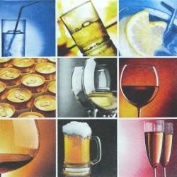 9 motivů s nápoji 33x33