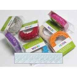 Textilní krajková páska samolepící - bílá