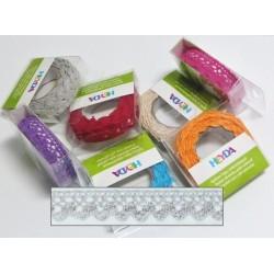 Textilní krajková páska samolepící - šedá
