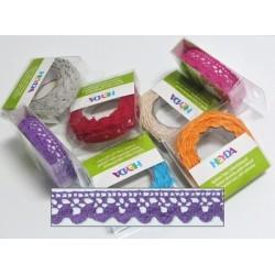 Textilní krajková páska samolepící - fialová