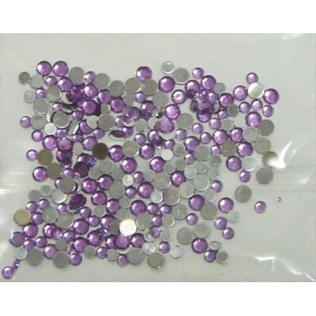 Kreat.doplněk kamínky fialové 120ks