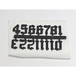 Číslice staroanglické černé 2cm