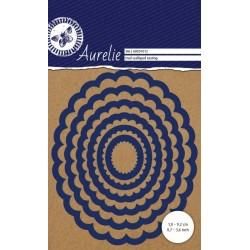 Vyřezávací šablony Aurelie - ovály s vroubky 6ks