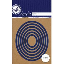 Vyřezávací šablony Aurelie - ovály hladké 6ks