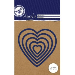 Vyřezávací šablony Aurelie - srdíčka 5ks