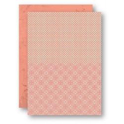 Papír na pozadí A4 - retro vzor, lososový